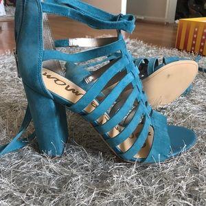 Sam Edelman Shoes - Sam Edelman Yarina blue block heel strappy sandal